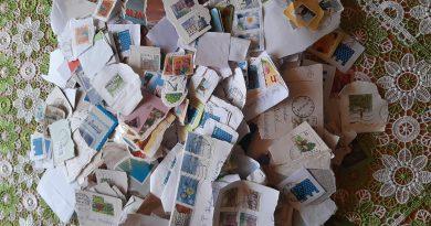 paczka na misje - uzbierane znaczki