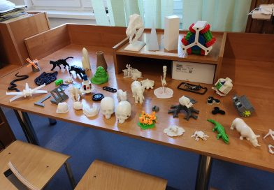 obrazek: Przykładowe modele wydrukowane na drukarkach 3D